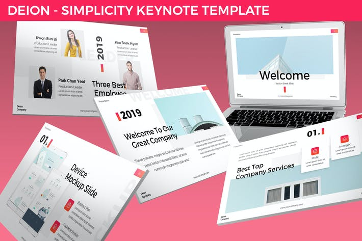Thumbnail for Deion - Simplicity Keynote Template