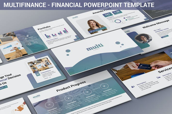 Thumbnail for MultiFinance - Financial Powerpoint Template