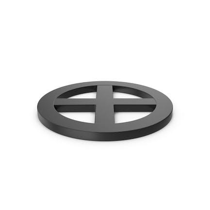 Black Symbol X Mark