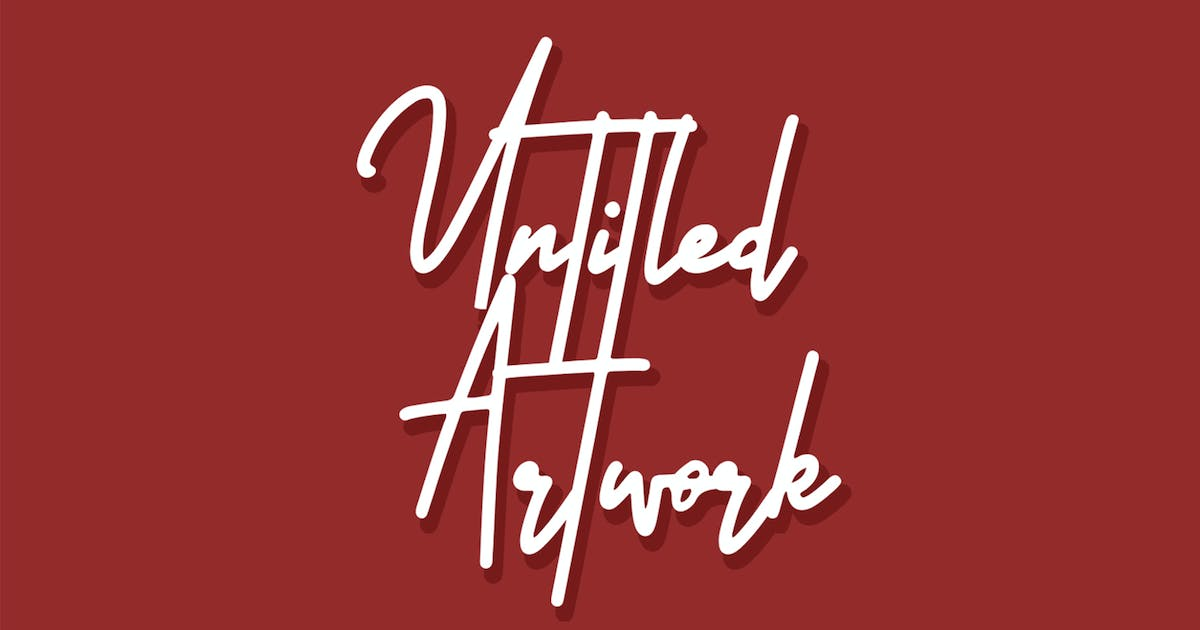 Download Untitled Artwork Signature Font by arendxstudio