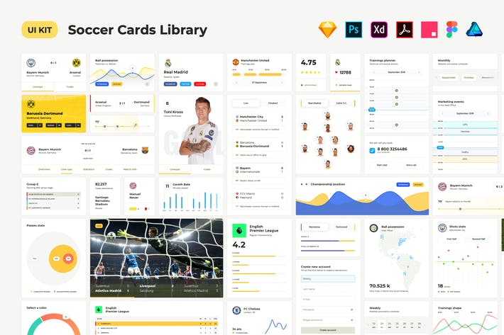 Cover Image For Soccer UI Cards