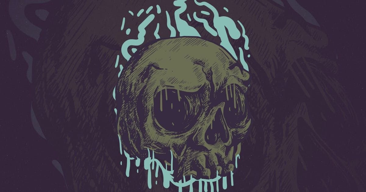 The Head Skull by Unknow