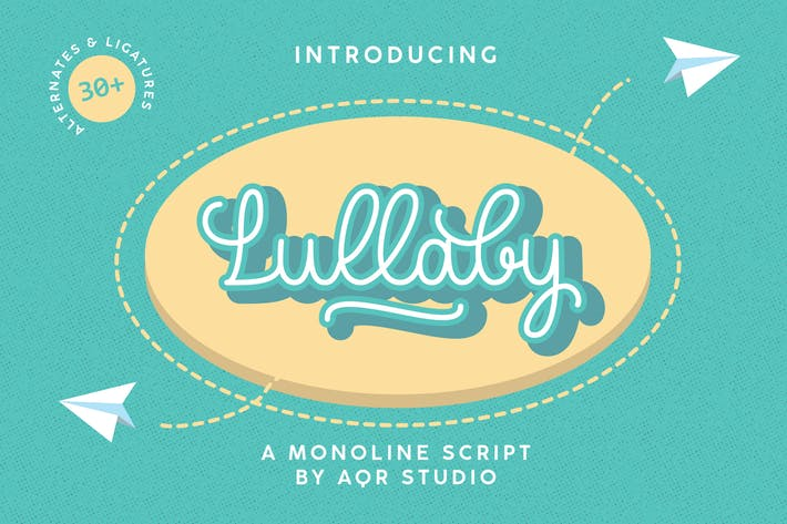 Thumbnail for Lullaby Playful Typeface