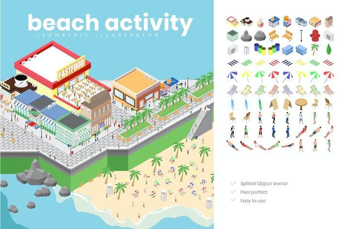 Thumbnail for Isometrische Darstellung der Strandaktivität