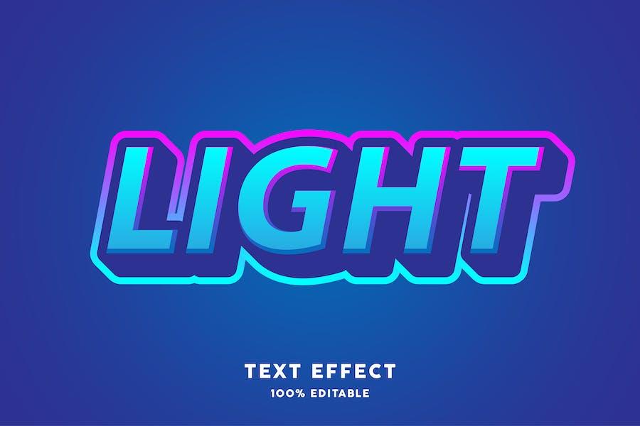 Blue gradient trendy text effect