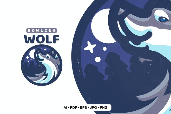 Thumbnail for Wolf Mascot logo