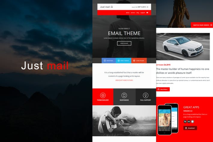 Thumbnail for Just mail - Responsive E-mail Template