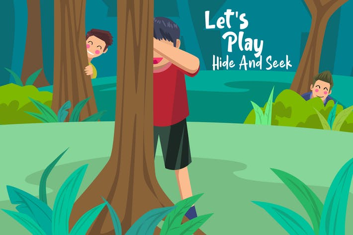 Thumbnail for Lets Play Hide - Vector Illustration