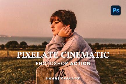 Pixelate Cinematic Photoshop Action