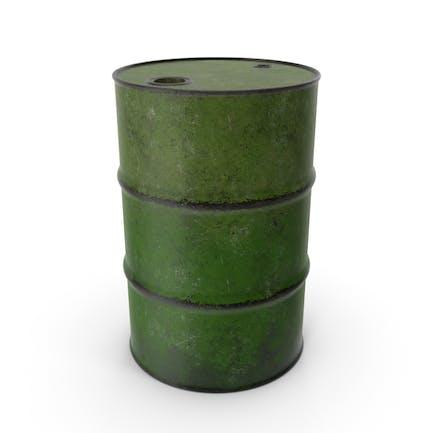 Баррель Металл Старый Зеленый