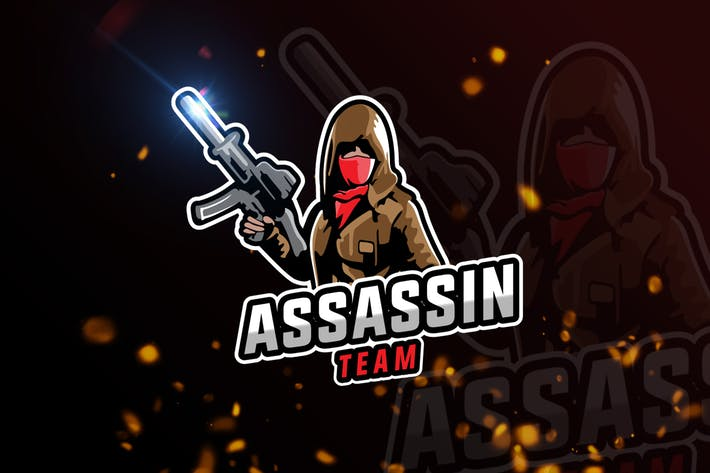Thumbnail for Assassin Mascot & eSports Gaming Logo