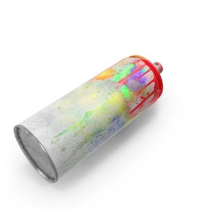 Pintura en aerosol sucia.