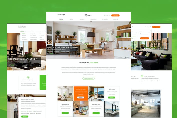 Thumbnail for Chambers - Single Property PSD Template