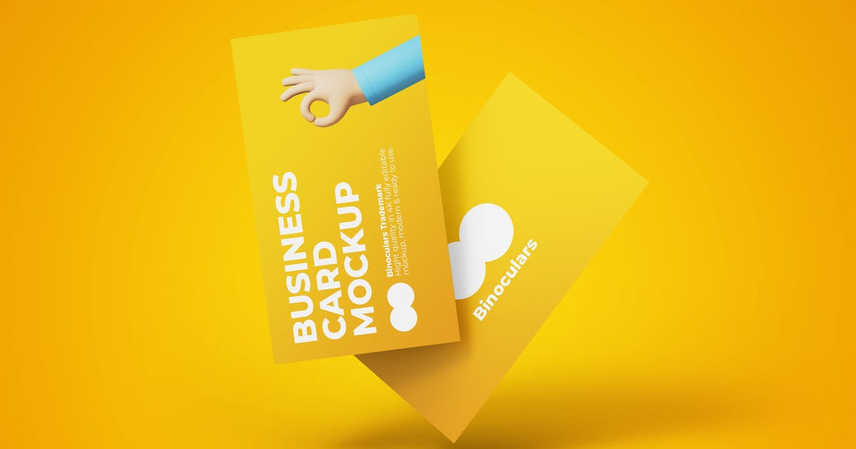 Download Realistic Business Card Mockup PSD Template by PrexTheme