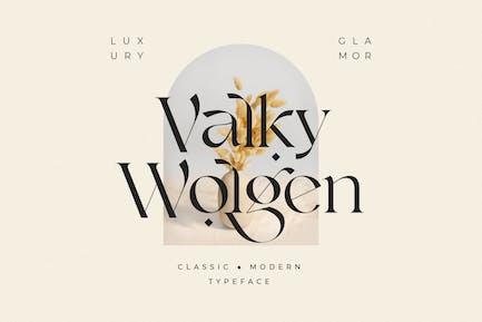 Valky Classic - Tipografía moderna