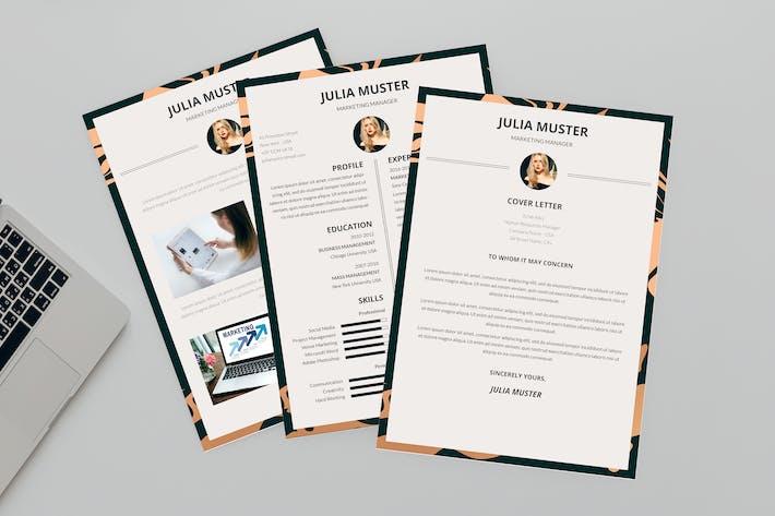 Thumbnail for Pleading CV Resume Designer