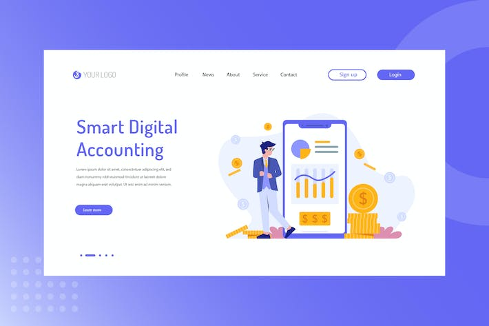 Thumbnail for Smart Digital Accounting Landing Page