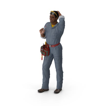 Light Skin Black Man Electrician