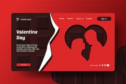 Valentine's Day - Landingpage Ilustration