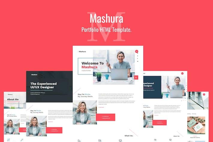 Thumbnail for Mashura - Single Portfolio HTML Template