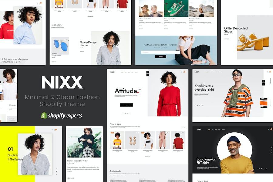 NIXX   Minimal & Limpio Moda Shopify Tema