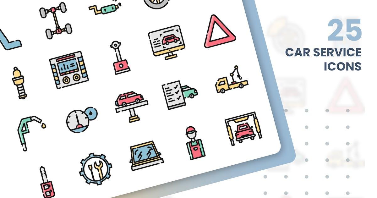 Download Car Service Icons Set by grafikonteam