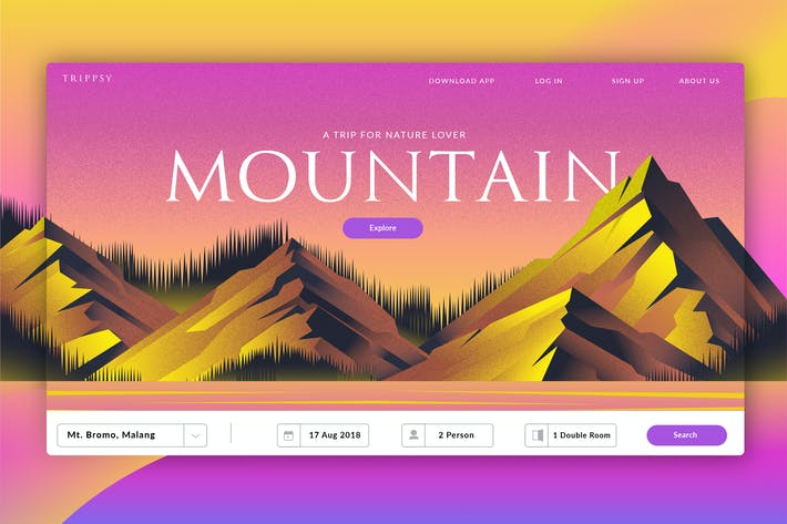Thumbnail for Mountain Travel - Banner & Landing Page