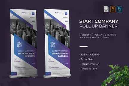 Start Company   Roll Up Banner