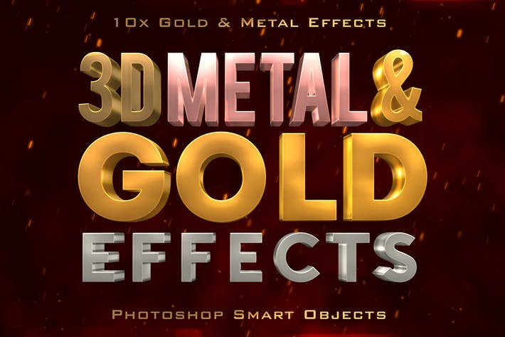 Thumbnail for 3D Metal & Gold Effects