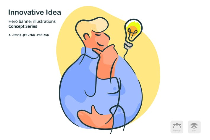 Thumbnail for Innovative Idea Vector Illustration