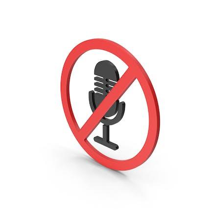 Symbol No Microphone