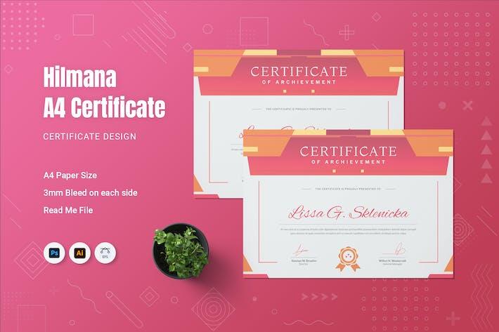 Hilmana Zertifikat