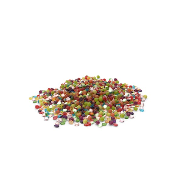 Huge Pile of Mixed Hard Candy