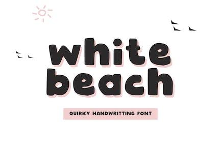 White Beach - Quirky Handwritting Font