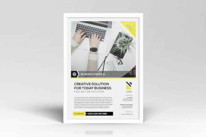 Thumbnail for Simple Business Flyers Template
