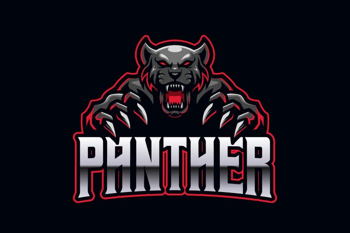 Thumbnail for Panther E-sports Logo Template
