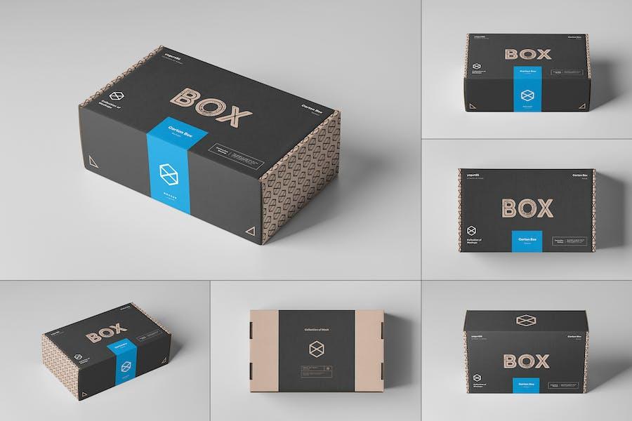 Carton Box Mockup 23x14x8