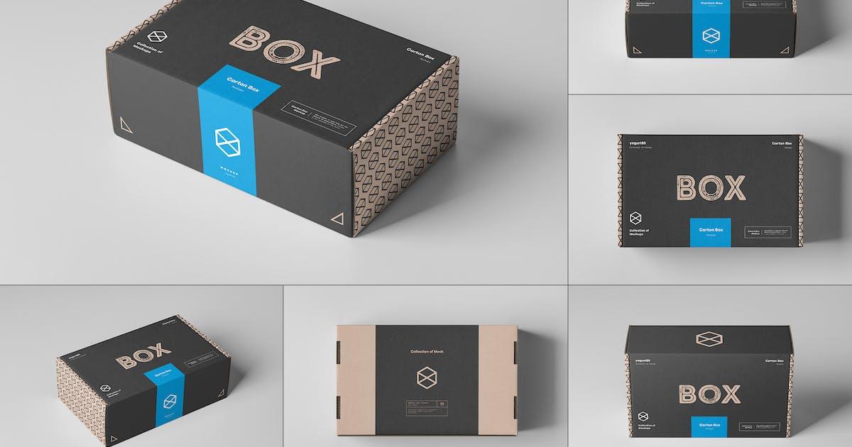 Download Carton Box Mockup 23x14x8 by yogurt86