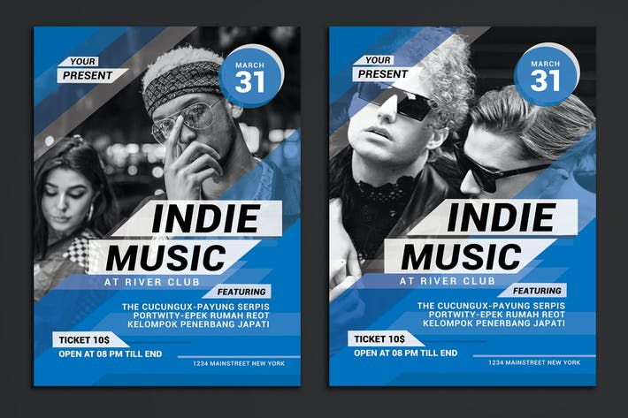 Thumbnail for Indie Music Event Flyer