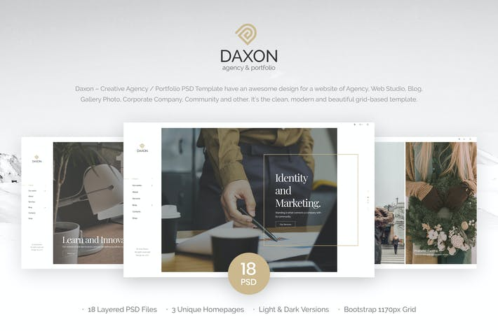 Thumbnail for Daxon - Agency / Portfolio PSD Template