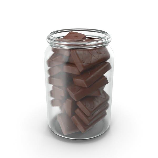 Баночка с бисквитами в хрустящей шоколадной крышке
