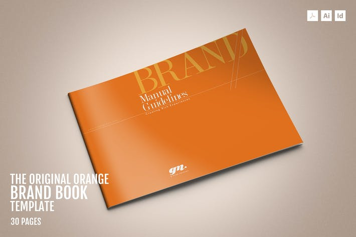 Thumbnail for Original Orange – Brand Guidelines Template