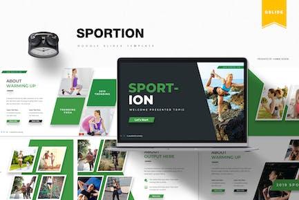 Sportion | Шаблон слайдов Google