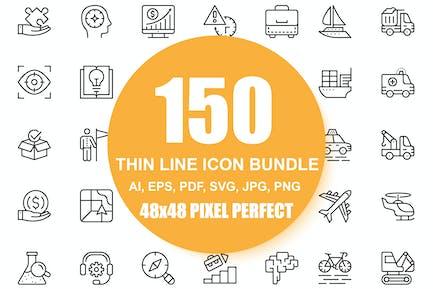 150 Line Icons