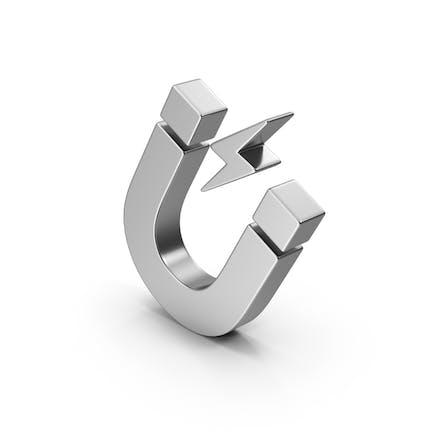 Symbol Magnet Silver