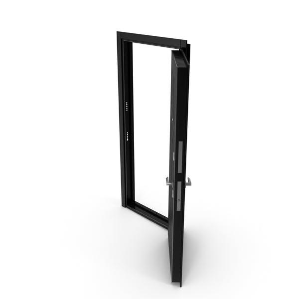 Entrance Door Black Open