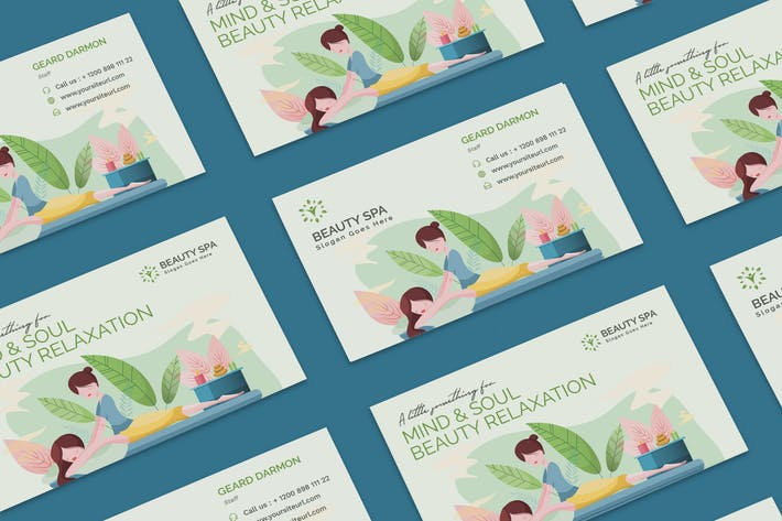 Thumbnail for Beauty Spa Business Card PSD Template
