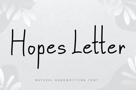 Hopes Letter Natural Font