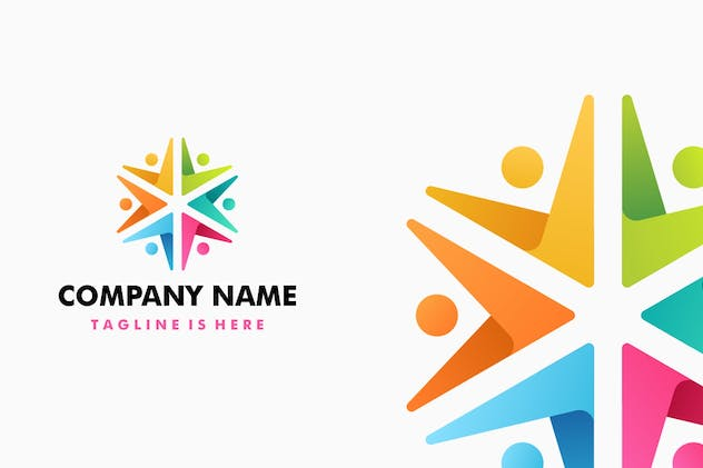 People Colorful Logo