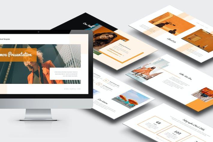 Thumbnail for Samoa : Orange Gradient Color Tone Keynote